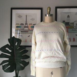VTG•1980's Pastel Sweater